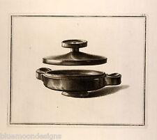 William Hamilton 1801 Antique Greek VASO ANTICO d 'Hancarville räuchergefäß (?)
