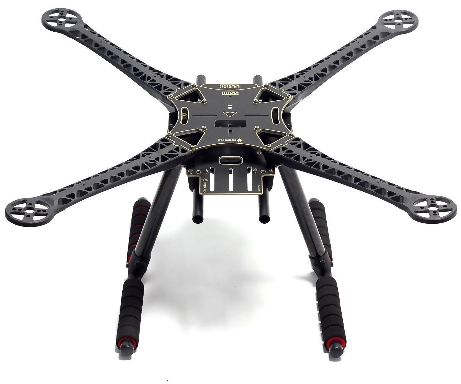 Quadcopter Drone Frame Stretch Kit Version with Carbon Fiber Landing Gear
