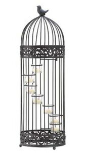 HOME-LIGHTING-DECOR-BIRD-CAGE-STAIRCASE-CANDLE-STAND