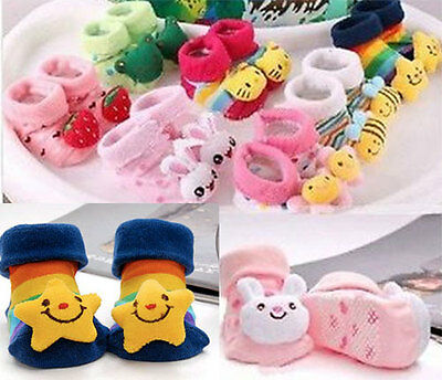 Cute Cartoon Baby Socks Slipper Shoes Boots 0-6 Months
