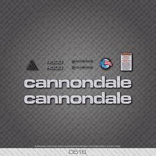 0516 ARGENTO CANNONDALE R500 Bicicletta Adesivi-Decalcomanie-trasferimenti