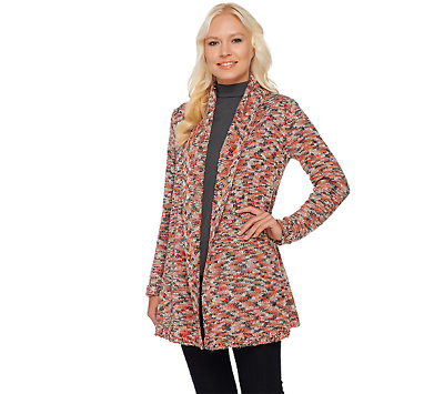 Dependable Isaac Mizrahi Live Draped Collar Open Front Cardigan Multi Size X-small Hot Sale 50-70% OFF