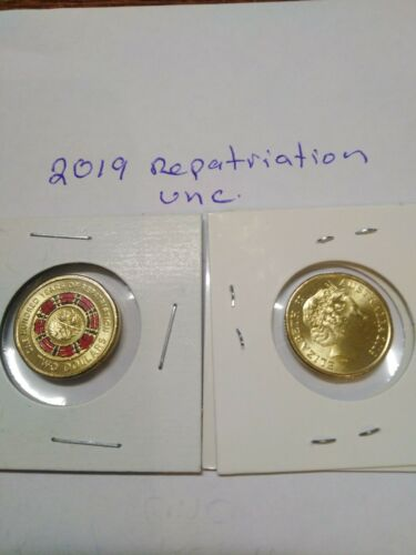 2019 Aust $2 dollar 100 years Repatriation red poppy ring coin from mint bag UNC