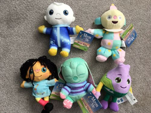 NEW Moon /& Me Friends FULL Set of 5 Pepi Sleepy Baby Colly Onion Soft Plush Toys
