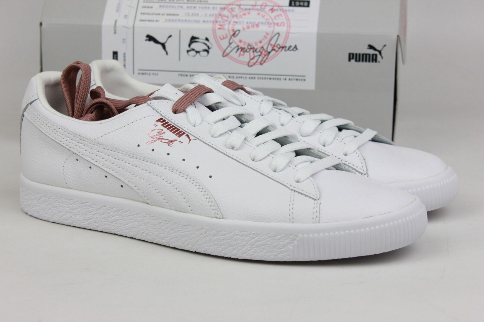 PUMA X EMORY JONES CLYDE  BET ON YOURSELF  WHITE 368055-01 MEN VEGAS