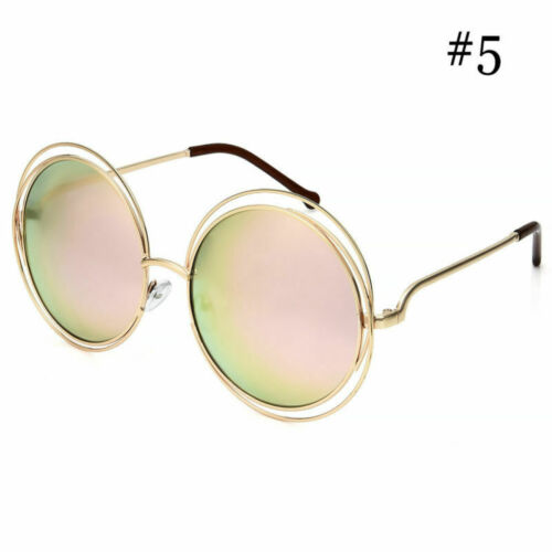 Women/'s Circle Round Vintage Retro Fashion Hipster Hippie Sunglasses Oversized