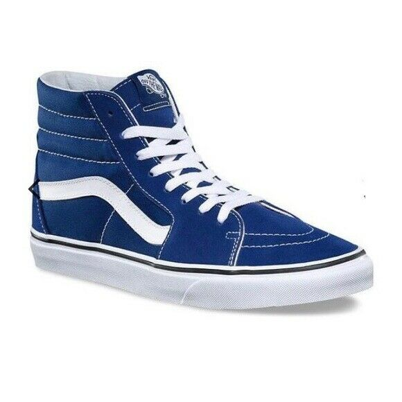 Vans SK8-hi top Estate bluee sued canv sneaker shoes woman size 11.5, men 10