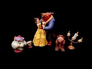 Jim-Shore-Disney-Traditions-Beauty-and-the-Beast-4-Piece-Collector-039-s-Set-New