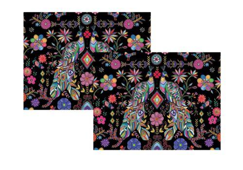 2 Feuilles de Pampas Peacock Papier Cadeau Papier Museum et Galeries collection
