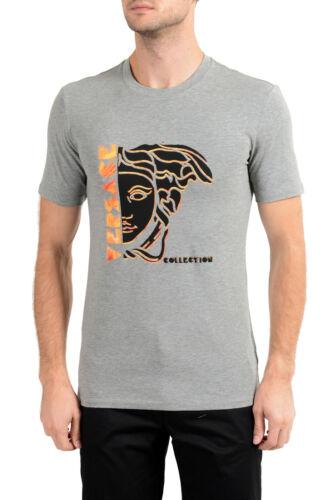Versace Collection Men/'s Gray Graphic Crewneck T-Shirt Sz S M L XL 2XL