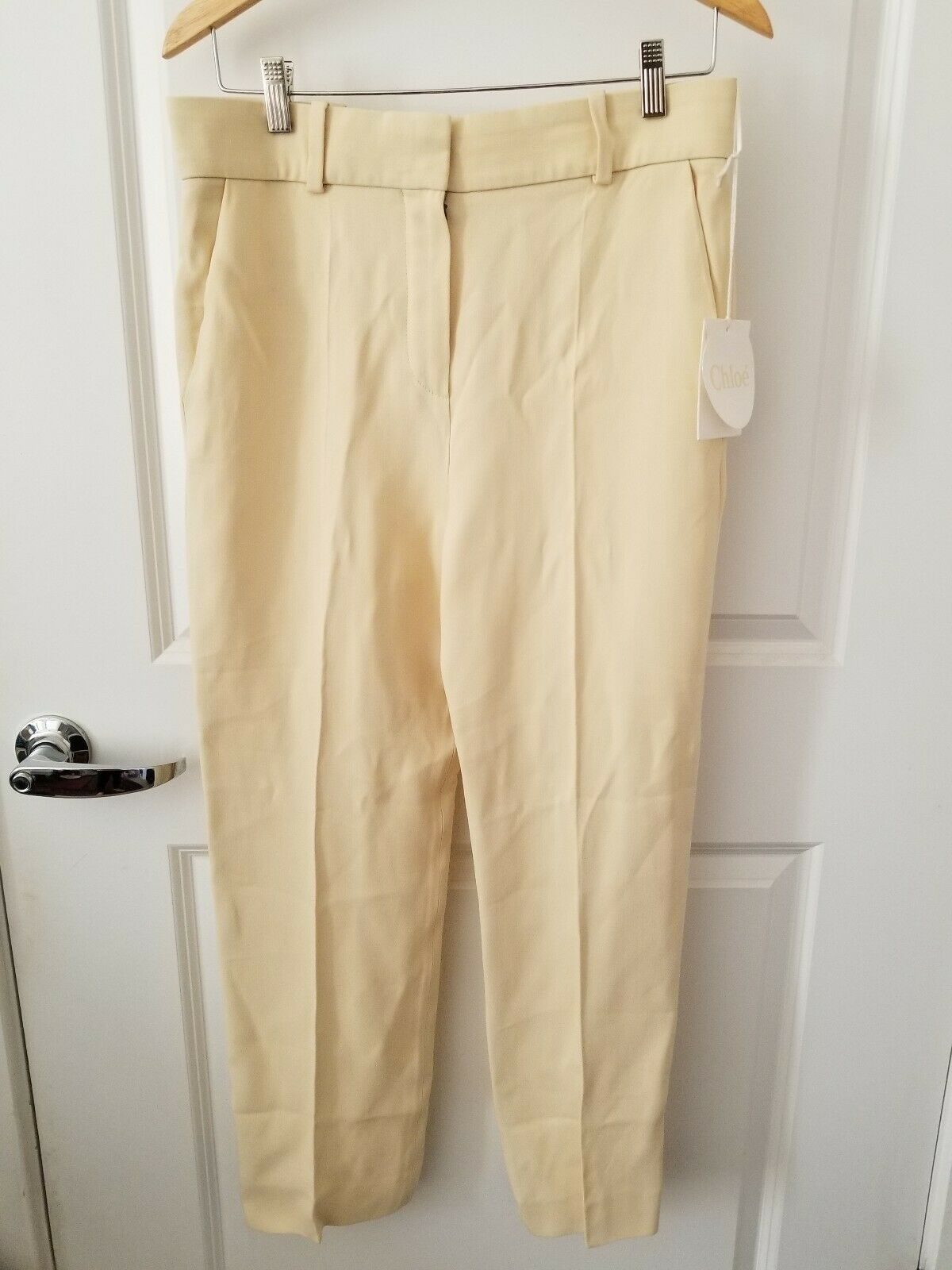 Authentic Chloe cream color pants, size 38