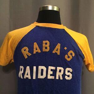 Vtg 50s 60s T Shirt Baseball Jersey Blue Gold Raiders College Ringer Macgregor Ebay
