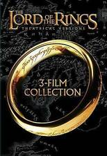 LORD OF THE RINGS 1 , 2 & 3 Widescreen Trilogy (3 disc) dvd Set ELIJAH WOOD Ln