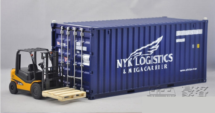 1 20 NYK shipping container model+forklift+pallet Model