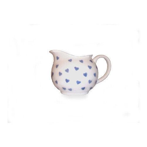 NINA CAMPBELL Bone China petit crème cruche bleu coeurs design salle à manger cuisine