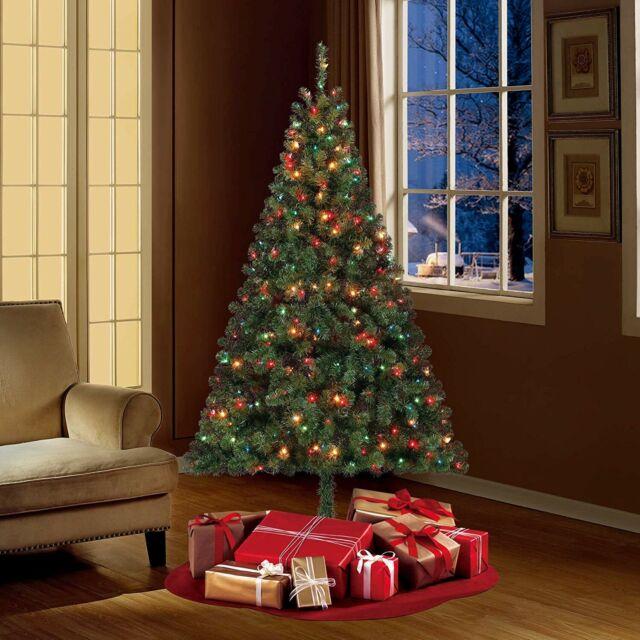 Madison Pine Christmas Tree: Artificial Christmas Tree Pre Lit 9 Ft Pine Green Xmas