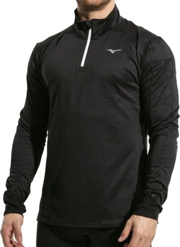 Mizuno Warmalite Half Zip Long Sleeve Mens Running Top Black