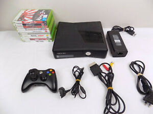 Like-New-Xbox-360-Slim-Console-250Gb-Wireless-Controller-10x-Popular-Games