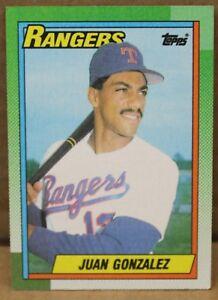 Details About Juan Gonzalez 1990 Topps Rookie Card 331 Texas Rangers