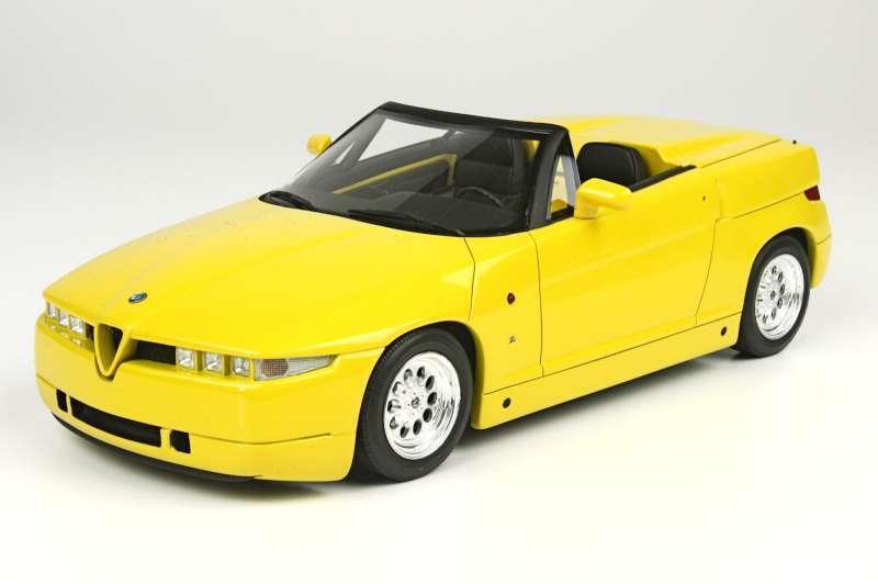Top Marques 03K 4C nero Metálico 09Y RZ giallo ALFA ROMEO modelo coches de carretera 1 18