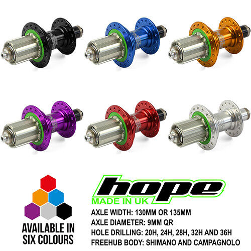 Hope RS4 Road Rear Hub QR - All colors, Spoke  Holes and Drivers - Brand New  10 days return