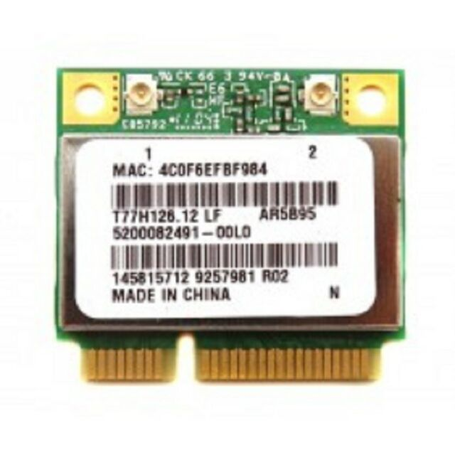 Qualcomm Atheros Ar9285 AR5B95 Half Mini Pci-e WLAN Wireless Card 802 11n