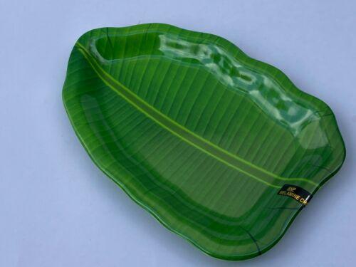 Mini Banana Leaf Plate Melamine Tableware Lunch Dinner Fruit Serving Platter