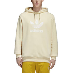 b4d91990696b Adidas Originals Trefoil Men s Pullover Hoodie Mist Sun White cw1243 ...