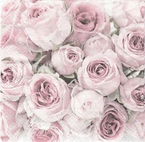 3-Serviettes-en-papier-Cocktail-Roses-Vintage-Decoupage-Paper-Napkins-Rose-Sagen