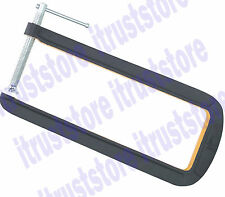 """Extra Long Deep Throat C-Clamp U Clamp 4"""" Jaw Opening 12"""" Throat T-Handle"""