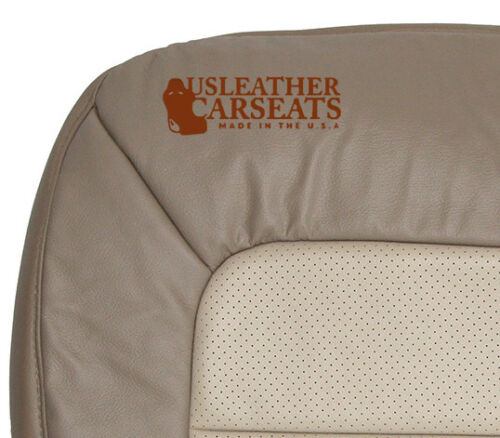 2005 Ford Expedition DRIVER Side Bottom PERFORATED Leather Seat Cover 2 TONE TAN