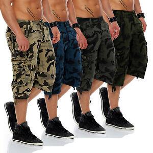 Herren Shorts Kurze Capri Hose Sommer 3 4 Bermuda Camouflage Army ... d027b858de