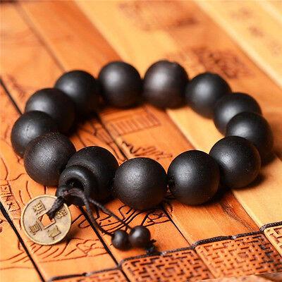 Wood Buddha Buddhist Prayer Beads Mala Wrist Ornament Tibet Bracelet Bangle Y