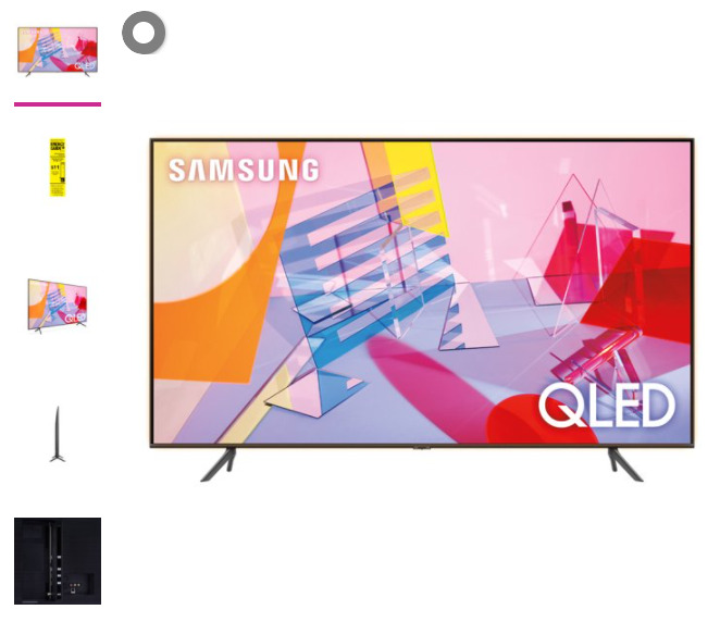 SAMSUNG 75 Class 4K Ultra HD (2160P) HDR Smart QLED TV QN75Q60TB. Available Now for 895.00