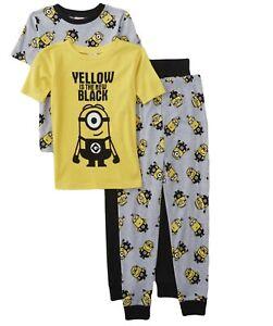XS 4//5 Despicable Me Minion Boys 2 Pc Short Pajama Set