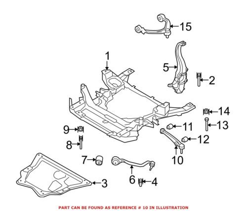 For BMW Genuine Suspension Control Arm Front Left Lower Rearward 31126771893