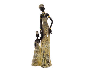 Afrikanische figur mutter mit kind afrika frau deko dekoration dekofigur style ebay - Dekoration afrika style ...