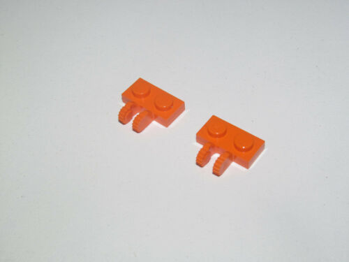 4x Charnière hinge plate plaque 1x2 locking rouge//red 60471 NEUF Lego