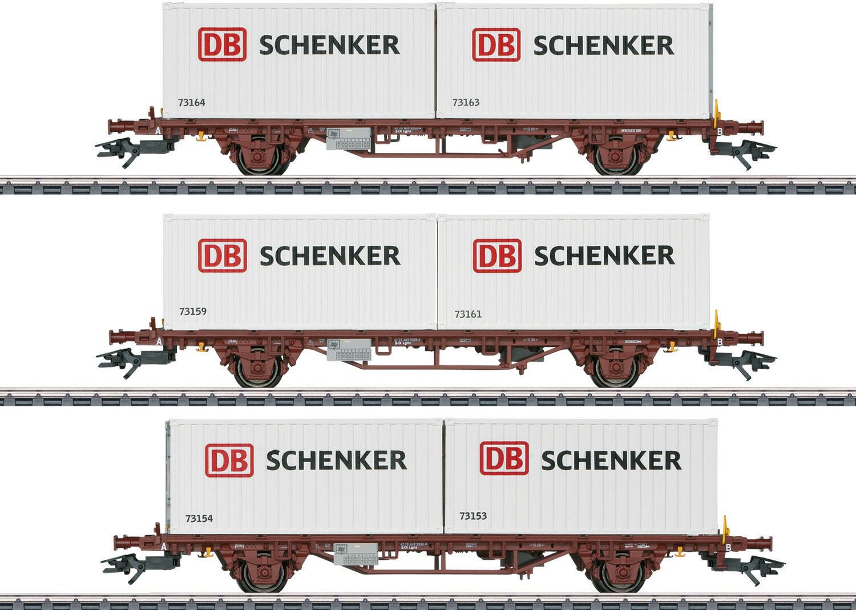 Märklin 47725 Containerwagen Schenker Ep VI Auf Wunsch Achstausch für DC gratis    Optimaler Preis
