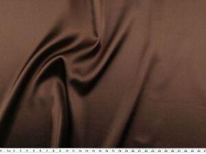 140-148cm Stretch Satin braun