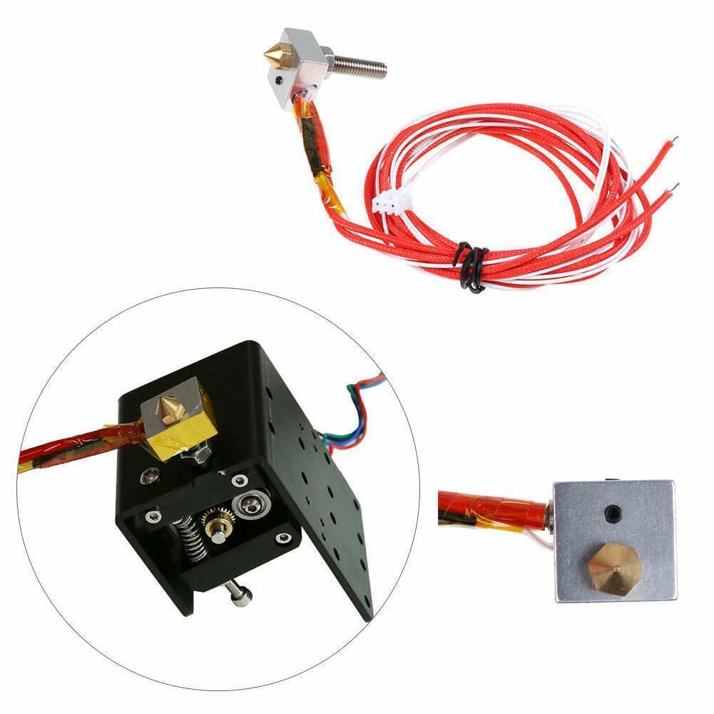 DIY Hot End Kit 0.4mm Nozzle M6 30mm Extruder Throat Heater Block MK8