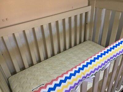 Reversible Baby Cot Crib Teething Rail Cover Protector ~ Rainbow Chevron
