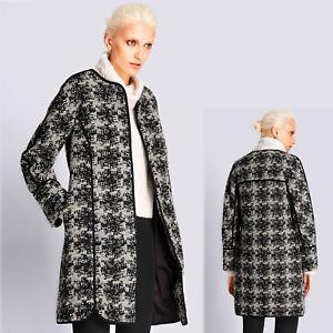 10 avec texturé s noir Autograph M laine Manteau mélange avant Taille ~ PfwnWxwzO