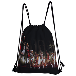 Image Is Loading Michael Jordan Canvas String Drawstring Backpack Gym Bag