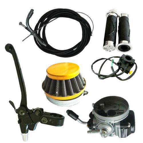 Carburetor/&Air Filter/&Handlebar Grip Set Fit 49cc 66cc 80cc Motorized Bike