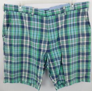 Tommy-Hilfiger-Men-039-s-Plaid-Golf-Casual-Shorts-sz-40-Cotton-Green-White-Gray