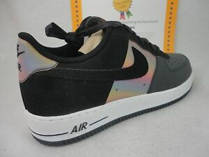 finest selection 884bb af76a Image is loading Nike-Air-Force-1-Comfort-Hologram-Anthracite-Black-