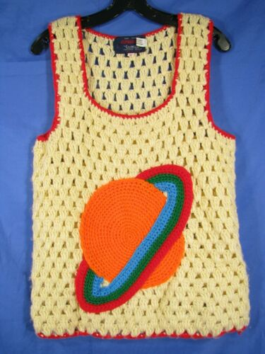 VTG EXPRESSIONS CAMPUS Crocheted SWEATER TANK TOP