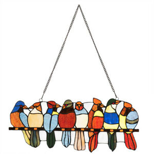 22-5-034-Tiffany-Style-Stained-Glass-Birds-Window-Panel-Hanging-Sun-Catcher-Decor