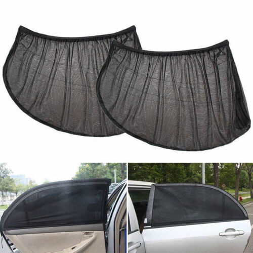 2X Car UV Side Window Sun Visor Shade Black Mesh Cover Shield Sunshade Protect